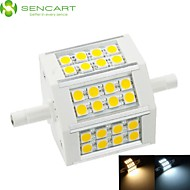 R7S LED Floodlight Recessed Retrofit 24 SMD 5060 650-800 lm Warm White Cold White 3000-3500  6000-6500 K Dimmable AC 85-265 V
