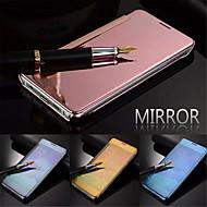 billige Etuier til Samsung-For Samsung Galaxy etui Auto Sluk Spejl Flip Etui Heldækkende Etui Helfarve PC for Samsung S5