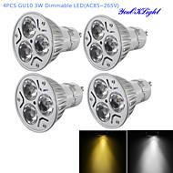 저렴한 -YouOKLight 300 lm GU10 LED 스팟 조명 R63 3 LED가 고성능 LED 밝기조절가능 장식 따뜻한 화이트 차가운 화이트 AC 85-265V