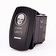 iztoss laser blå on-off vippebryter m / jumper wire 5pin 20 amp 12 volt led lights - zombie lys