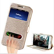 Pour Samsung Galaxy Coque Avec Support Avec Ouverture Clapet Coque Coque Intégrale Coque Couleur Pleine Cuir PU pour Samsung S4