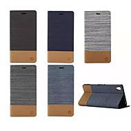 luxus flip-vászon bőrtok pénztárca kártya foglalat tartó Sony Xperia m2 / m4 / E4 / C4 / Z3 / Z4 / Z3 mini / T3