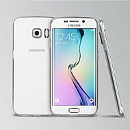 Недорогие Чехлы и кейсы для Galaxy S-Кейс для Назначение SSamsung Galaxy Кейс для  Samsung Galaxy Прозрачный Кейс на заднюю панель Сплошной цвет ТПУ для S6 edge
