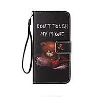 Недорогие Чехлы и кейсы для Galaxy J1-Кейс для Назначение SSamsung Galaxy Кейс для  Samsung Galaxy Кошелек / Бумажник для карт / со стендом Чехол Слова / выражения Кожа PU для Xcover 3 / J7 Prime / J7