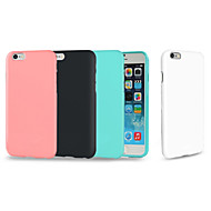 Para iPhone 8 iPhone 8 Plus iPhone 7 Plus iPhone 6 iPhone 6 Plus Carcasa Funda Antigolpes Cubierta Trasera Funda Color sólido Suave TPU
