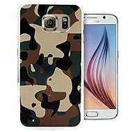 Mert Samsung Galaxy tok Minta Case Hátlap Case Álcázás PC Samsung S6 edge / S6