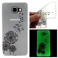 Voor Samsung Galaxy hoesje Glow in the dark / Transparant / Patroon hoesje Achterkantje hoesje Paardenbloem TPU SamsungA7(2016) /