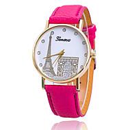 povoljno -Xu™ Dame ' Modni sat Kvarc Casual sat PU Grupa Prženje Eiffelov toranj Smeđa Zelena Pink Ljubičasta Fuksija Kava Pink Svijetlo zelena