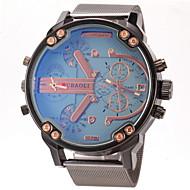 Недорогие Фирменные часы-JUBAOLI Муж. Армейские часы Наручные часы Кварцевый С двумя часовыми поясами Повседневные часы Нержавеющая сталь Группа Аналоговый Кулоны Черный - Темно-синий Желтый Светло-синий