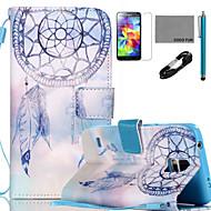 Para Soporte de Coche / Cartera / con Soporte / Flip / Diseños Funda Cuerpo Entero Funda Atrapasueños Dura Cuero Sintético SamsungS5 Mini