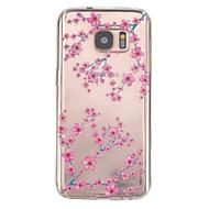 Недорогие Чехлы и кейсы для Galaxy S7-Кейс для Назначение SSamsung Galaxy Samsung Galaxy S7 Edge Рельефный Кейс на заднюю панель Цветы ТПУ для S7 edge S7