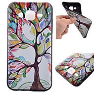 Для Кейс для  Samsung Galaxy С узором Кейс для Задняя крышка Кейс для дерево TPU Samsung J5 / J1 / Grand Prime / Core Prime