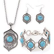 abordables Turquesa-Mujer Turquesa Conjunto de joyas - Resina, Turquesa Lujo, Europeo Incluir Para Fiesta Cumpleaños Pedida / Pendientes / Collare / Pulsera