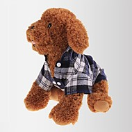 cheap Pet Supplies Accessories-Cat Dog Shirt / T-Shirt Dog Clothes Plaid/Check Red Green Blue Cotton Costume For Pets Men's Women's Classic Casual/Daily
