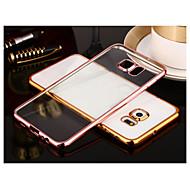 Недорогие Чехлы и кейсы для Galaxy S8 Plus-Кейс для Назначение SSamsung Galaxy Samsung Galaxy S7 Edge Покрытие Прозрачный Кейс на заднюю панель Сплошной цвет ТПУ для S8 Plus S8 S7