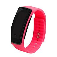 Naisten Urheilukello Digitaalinen LCD Arkikello Plastic Bändi Musta  Valkoinen Sininen  Punainen  Vaaleanpunainen Violetti Musta Purppura