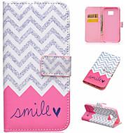 Для Кейс для  Samsung Galaxy Бумажник для карт / со стендом / Флип / Магнитный / С узором Кейс для Чехол Кейс для Полосы / волосы