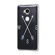 Для Кейс для Huawei / P9 Защита от удара Кейс для Задняя крышка Кейс для Черный и белый Мягкий TPU HuaweiHuawei P9 / Huawei Y6/Honor 4A /