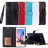 Недорогие Чехлы и кейсы для Galaxy S7-Кейс для Назначение SSamsung Galaxy Samsung Galaxy S7 Edge Кошелек / Бумажник для карт / со стендом Чехол Полосы / волосы Кожа PU для S8 / S7 edge / S7