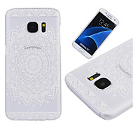 billige Galaxy S5 Mini Etuier-Til Samsung Galaxy S7 Edge Etuier Transparent Bagcover Etui Mandala-mønster PC for Samsung S7 edge S7 S6 edge S6 S5 Mini S5 S4 Mini S4