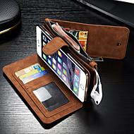 Недорогие Кейсы для iPhone 8-Назначение iPhone 8 iPhone 8 Plus iPhone 6 iPhone 6 Plus Чехлы панели Бумажник для карт Кошелек Флип Чехол Кейс для Сплошной цвет Твердый