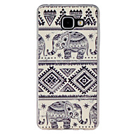 Недорогие Чехлы и кейсы для Galaxy A7(2016)-Кейс для Назначение SSamsung Galaxy Кейс для  Samsung Galaxy С узором Кейс на заднюю панель Слон ТПУ для A7(2016) A5(2016) A3(2016) A9