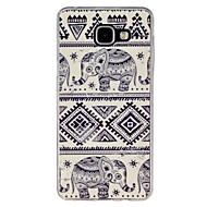 Для Кейс для  Samsung Galaxy С узором Кейс для Задняя крышка Кейс для Слон TPU Samsung A7(2016) / A5(2016) / A3(2016) / A9