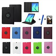 voordelige Samsung Tab-serie hoesjes / covers-Voor met standaard / Flip / 360° rotatie hoesje Volledige behuizing hoesje Effen kleur Hard PU-leer Samsung Tab S2 9.7 / Tab S2 8.0