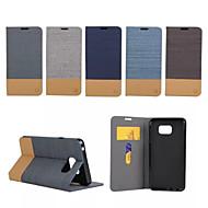 Для Samsung Galaxy Note Бумажник для карт / со стендом / Флип Кейс для Чехол Кейс для Полосы / волосы Искусственная кожа SamsungNote 5 /