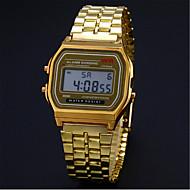 billige Pæne ure-Herre Kjoleur Armbåndsur Digital Watch Digital Rustfrit stål Bånd Sølv Guld Sølv Gylden