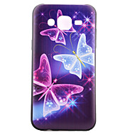 Недорогие Чехлы и кейсы для Galaxy J1-Кейс для Назначение SSamsung Galaxy Кейс для  Samsung Galaxy С узором Кейс на заднюю панель Бабочка ТПУ для J5 / J1 / Grand Prime