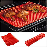 cheap Kitchen Tools-Red Pyramid Pan Nonstick Silicone Baking Mat Mould Cooking Mat Oven Baking Tray