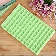 96 Zellen Eiswürfelschale Hersteller Formen Schokolade Gelee süße Süßigkeit Tabletts zufällige Farbe