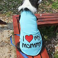 halpa -Kissa Koira T-paita Koiran vaatteet Kirjain ja numero Oranssi Harmaa Sininen Pinkki Puuvilla Asu Lemmikit Miesten Naisten Muoti