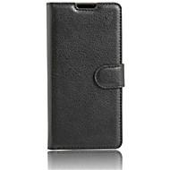 お買い得  携帯電話ケース-ケース 用途 Doogee DOOGEEケース カードホルダー スタンド付き フリップ フルボディーケース 純色 ハード PUレザー のために