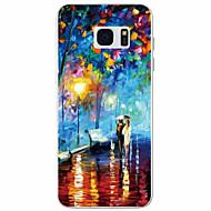 Недорогие Чехлы и кейсы для Galaxy S7 Edge-Для Samsung Galaxy S7 Edge С узором Кейс для Задняя крышка Кейс для Пейзаж TPU Samsung S7 edge / S7 / S6 / S5