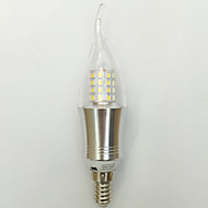 E14 LED-kynttilälamput C35 45 ledit SMD 2835 Koristeltu Lämmin valkoinen Kylmä valkoinen 850lm 2700K AC 85-265V