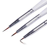 3PCS Colored Drawing Nail Pen Set Nail Art Tool