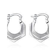 여성 스터드 귀걸이 클립 귀걸이 유럽의 의상 보석 스탈링 실버 구리 은 도금 Geometric Shape 보석류 제품 결혼식 파티 일상 캐쥬얼