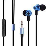 abingo ES700 Metall ergonomische Ohrhörer Stil Kopfhörer mit Mikrofon& Fernbedienung für Smartphone