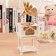 お買い得  おもちゃ & ホビーアクセサリー-エリーゼのオルゴールプラスチックホワイト/ゴールド用蓄音機形状