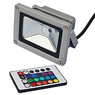 10W 800-900LM kauko-ohjattava RGB LED valonheitin (85-265V)
