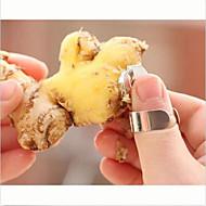 저렴한 -2 개 실제 스테인리스 스틸 주방 가젯 마늘 생강 커터 껍질 벗기는 도구