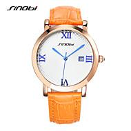 Недорогие Фирменные часы-SINOBI Жен. Нарядные часы Кварцевый Оранжевый 30 m Защита от влаги Календарь Секундомер Аналоговый Дамы Роскошь - Оранжевый / Нержавеющая сталь