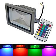 billige LED-projektører-6000-6500/3000-3200 lm LED-projektører 1 leds COB Vandtæt Fjernstyret Varm hvid Kold hvid RGB AC 85-265V