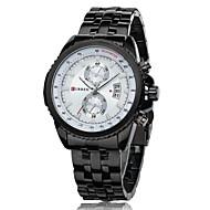 billige Pæne ure-CURREN Herre Quartz Japansk Quartz Armbåndsur Kalender Vandafvisende Rustfrit stål Bånd Vedhæng Sort Sølv