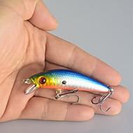 """10 Stück Angelköder kleiner Fisch Verschiedene Farben g/Unze,70 mm/2-3/4"""" ZollSeefischerei Köderwerfen Eisfischen Spinn Spring Fischen"""