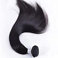 저렴한 -인모 브라질리언 헤어 인간의 머리 직조 스트레이트 헤어 익스텐션 1개 블랙