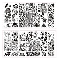 5pcs nail plates-12cmX6cm each piece-Virág-Fém-Ujj / Toe-Más dekorációk