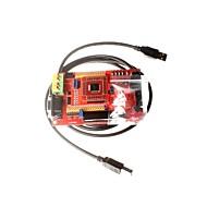 tanie Akcesoria Arduino-rozwój pokładzie mikrokontroler MSP430 msp430f149 ekran deska minimalna System podstawowy kolor z usb downloader